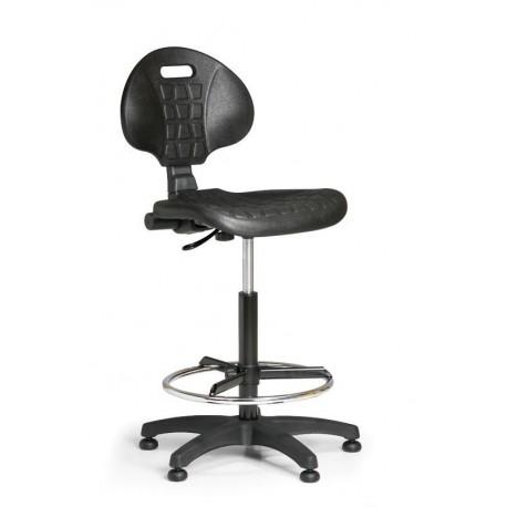 Pracovní židle PUR 2 s opěrným kruhem