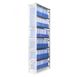 Regál Archivní SUPER123 2500x600x320mm 7 polic přídavný modul