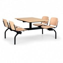 Jídelní set - sedadla a opěráky z lakované bukové překližky