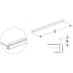 Čelní opěra nízká (plexisklo) 625mm