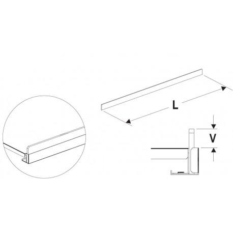 Čelní opěra nízká (plast bílý) 1330mm