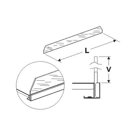 Čelní opěra vysoká (sklo) 1000mm