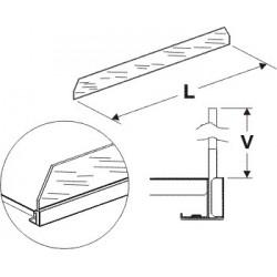 Čelní opěra vysoká (sklo) 1250mm