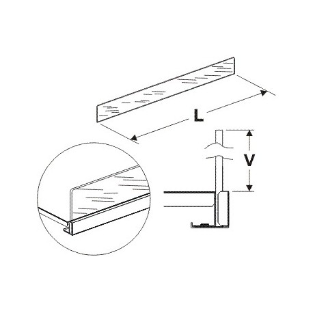 Čelní opěra vysoká (plexisklo) 1250/75mm