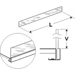 Čelní opěra vysoká (plexisklo) 625/125mm