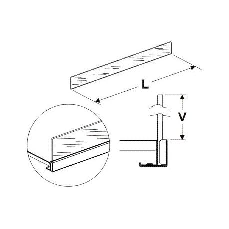 Čelní opěra vysoká (plexisklo) 1250/125mm