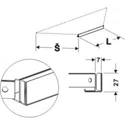 Držák cenovky koutový 90°400mm