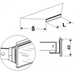 Cenovková lišta koutová 90°400mm