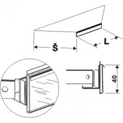 Cenovková lišta koutová 90°500mm