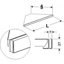 Držák cenovky rohový 90°300mm