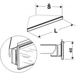 Cenovková lišta rohová 90°400mm