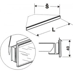 Cenovková lišta rohová 90°600mm