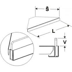 Čelní opěra nízká rohová (plast bílý) 300mm