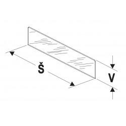 Dělítko nízké (sklo) 500/75mm