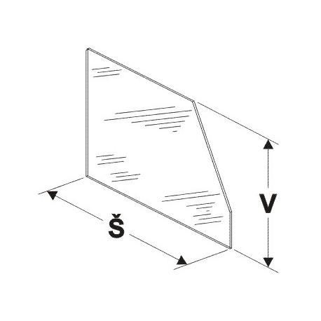 Dělítko vysoké (sklo) 500mm