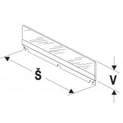 Bočnice police nízká (sklo) 300mm