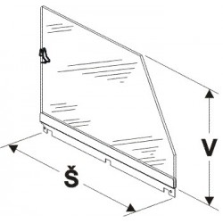 Bočnice police vysoká (plexisklo) 500mm