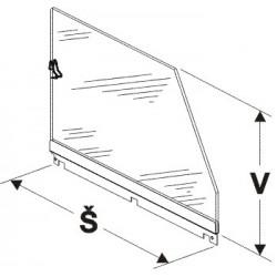 Bočnice police vysoká (sklo) 500mm
