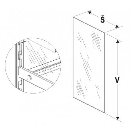 Bok vysoké vitríny 400/400mm