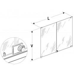 Dveře vysoké vitríny 1000/800mm