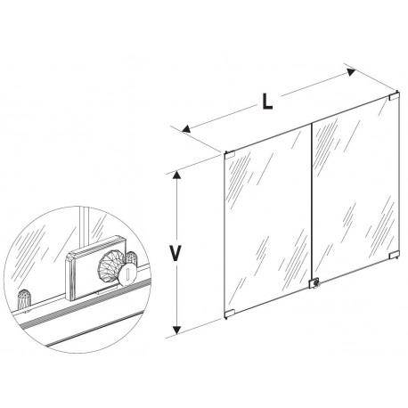 Dveře vysoké vitríny 1000/2000mm