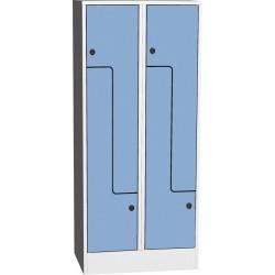 """Prostorově úsporná šatní skříň """"Z"""" s kompaktními laminátovými dveřmi"""