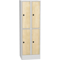 Horizontálně dělená šatní skříň s laminovanými dveřmi