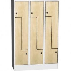 """Prostorově úsporná šatní skříň """"Z"""" s laminovanými dveřmi"""