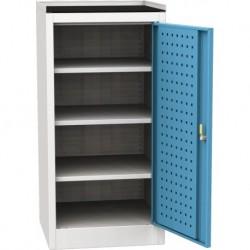 Dílenská skříň na nářadí s horní plochou na odkládání předmětu - 1 dveře, 3 police