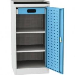 Dílenská skříň na nářadí s horní plochou na odkládání předmětu - 1 dveře, 2 police, 1 zásuvka
