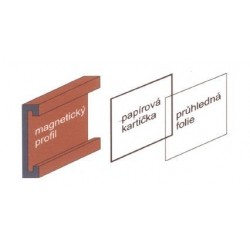 Magnetická etiketa 70 x 150 mm