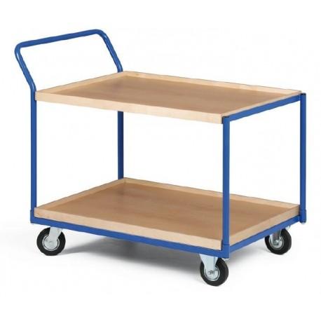 Dvoupolicový vozík - police překližka s hranou 1000 x 700 mm,400 kg