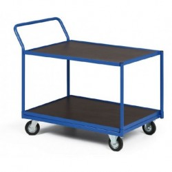 Dvoupolicový vozík - police vodovzdorná překližka 1000 x 700 mm,300 kg