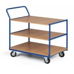 Třípolicový vozík - police překližka 1000 x 700 mm,300 kg