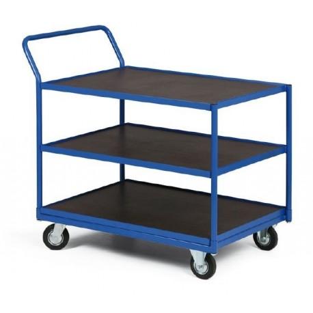 Třípolicový vozík - police vodovzdorná překližka 1000 x 700 mm,400 kg