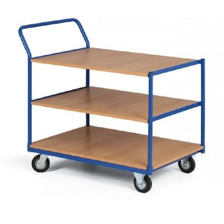 Třípolicový vozík - police překližka 1000 x 700 mm,400 kg