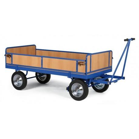 Velký plošinový vůz - ohrádka z dřevotřísky