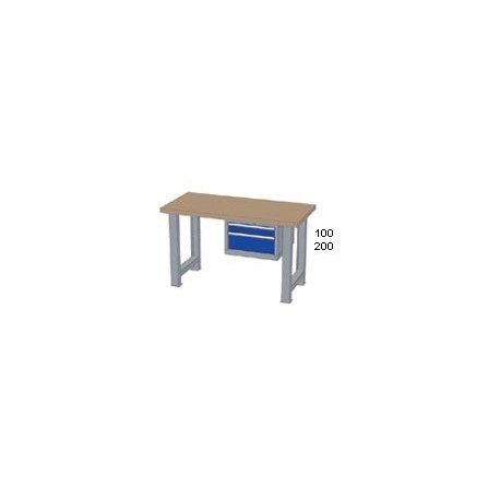 Pracovní stůl - deska (š x h x v): MULTIPLEX 2000 x 800 x 40mm