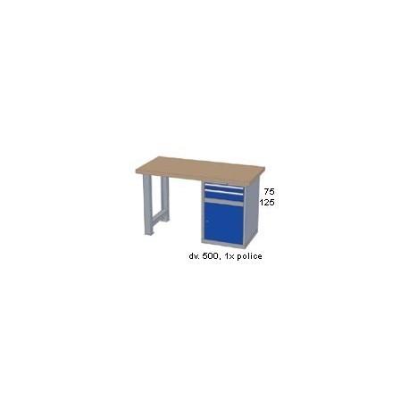 Pracovní stůl - deska ( x h x v): BUK 1500 x 800 x 50mm
