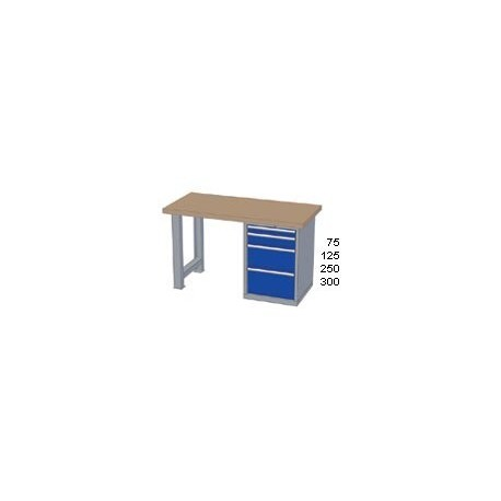 Pracovní stůl - deska ( x h x v): MULTIPLEX 2500 x 800 x 40mm
